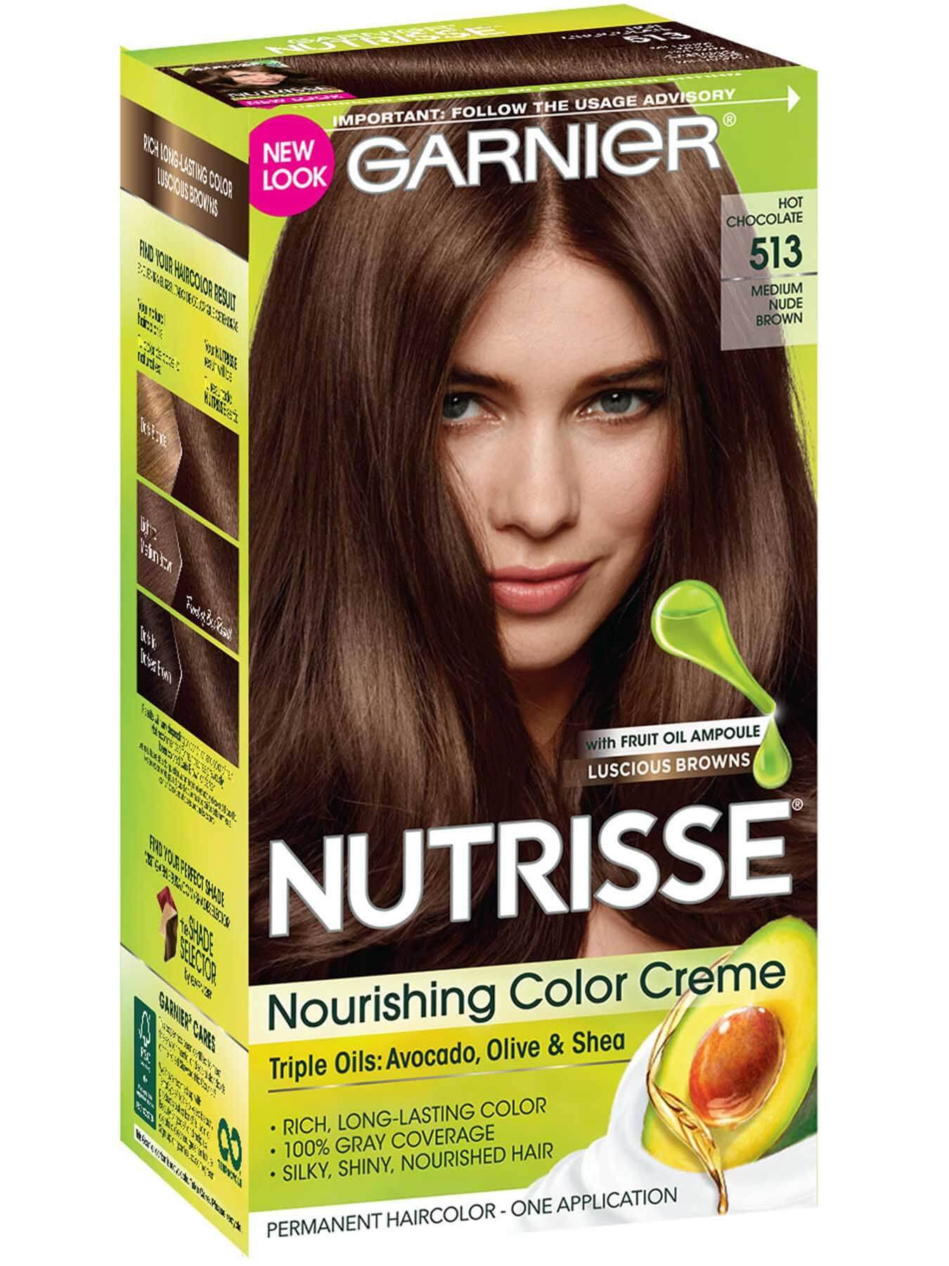 Front view of Nourishing Color Creme 513 - Medium Nude Brown.