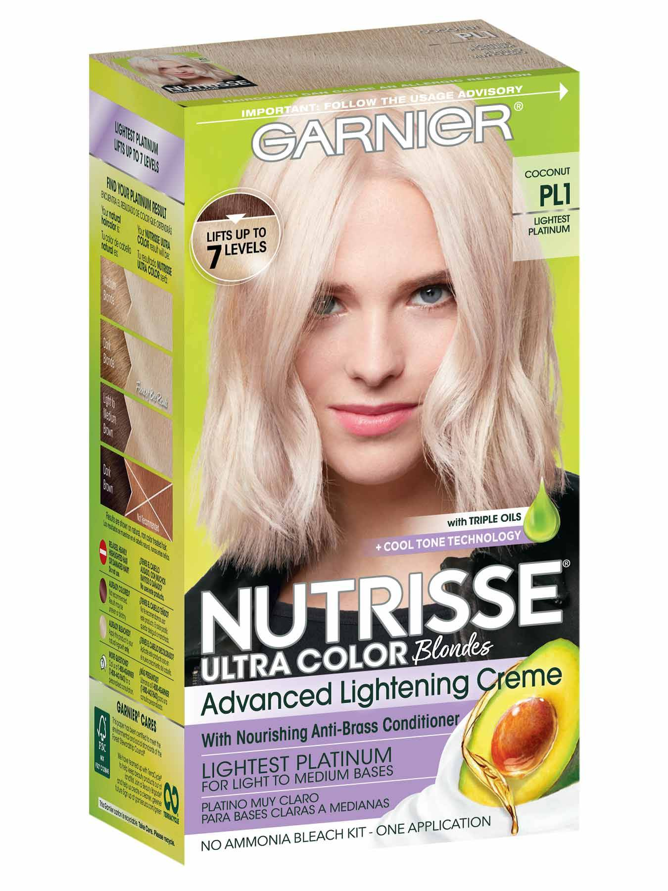 Nutrisse Ultra Color Lightest Platinum Hair Color Garnier
