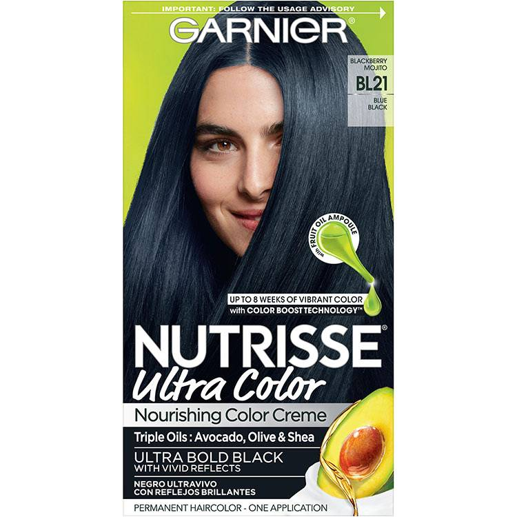 Garnier Nutrisse Ultra Color Nourishing Hair Color Creme bl21 Reflective Blue Black