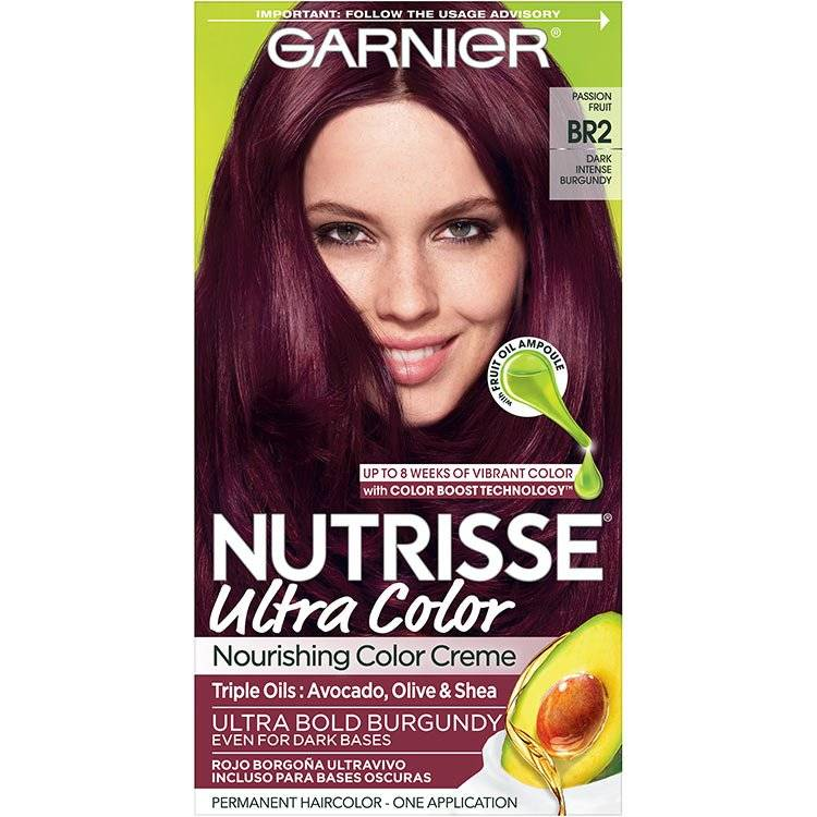 Garnier Nutrisse Ultra Color Nourishing Hair Color Creme br2 Dark Intense Burgundy