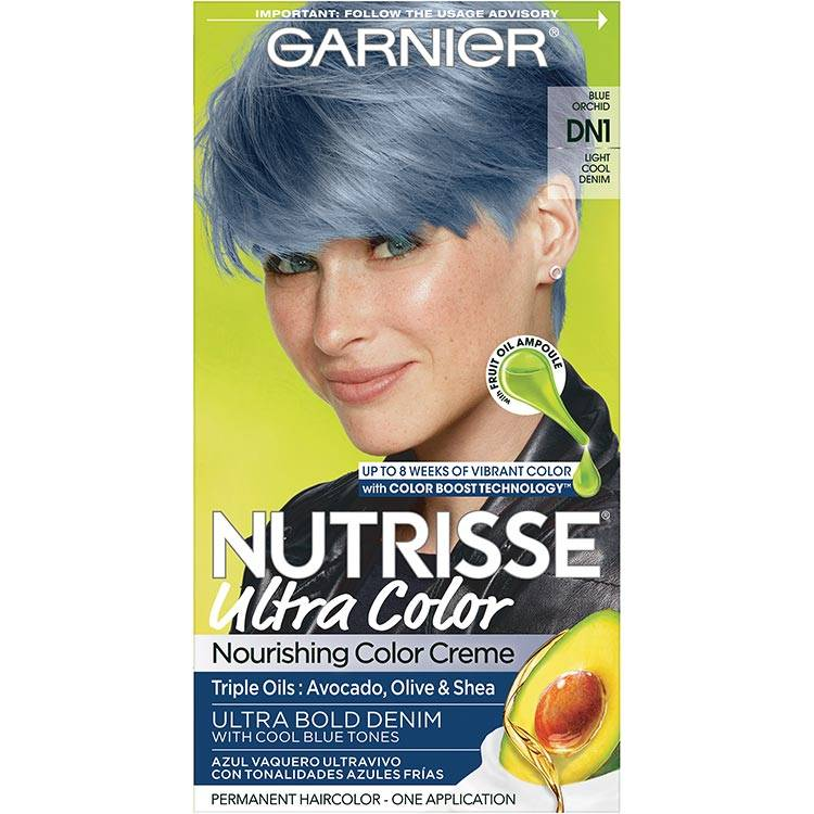 Garnier Nutrisse Ultra Color Nourishing Hair Color Creme dn1 Light Cool Denim