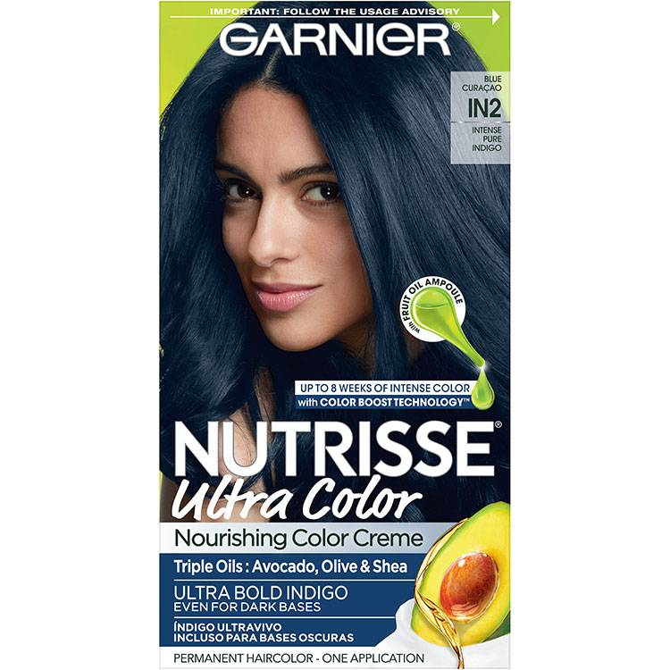 Garnier Nutrisse Ultra Color Nourishing Hair Color Creme in2 Intense Pure Indigo