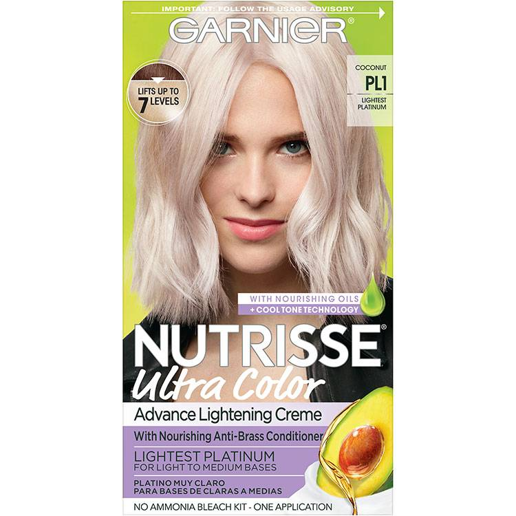 Garnier Nutrisse Ultra Color Nourishing Hair Color Creme pl1 Lightest Platinum