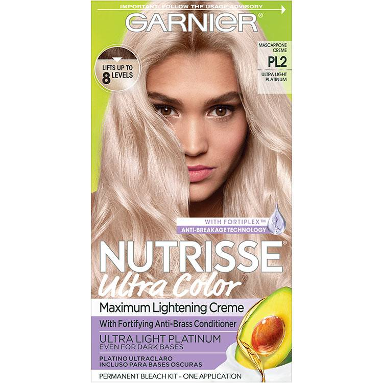 Garnier Nutrisse Ultra Color Nourishing Hair Color Creme pl2 Ultra Light Platinum