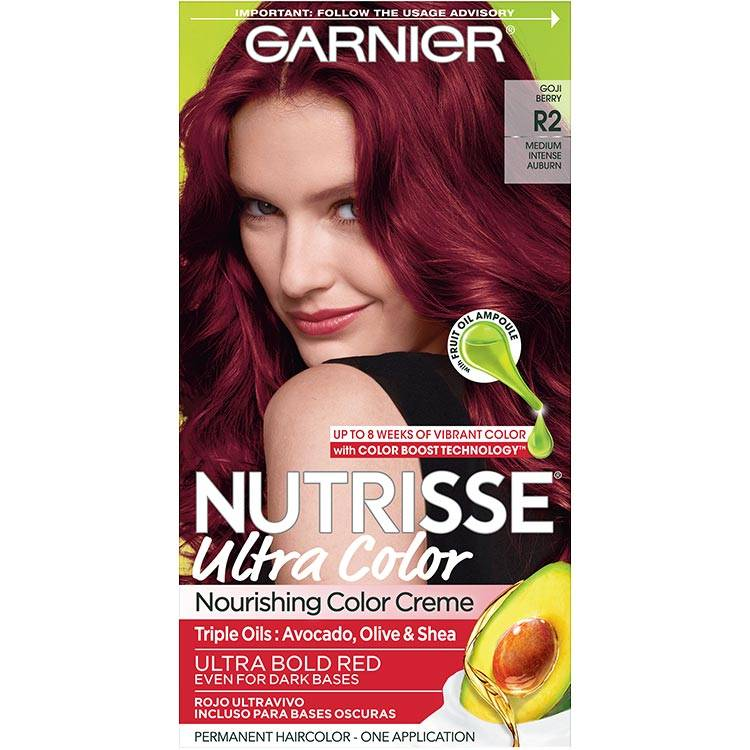 Garnier Nutrisse Ultra Color Nourishing Hair Color Creme r2 Medium Intense Auburn