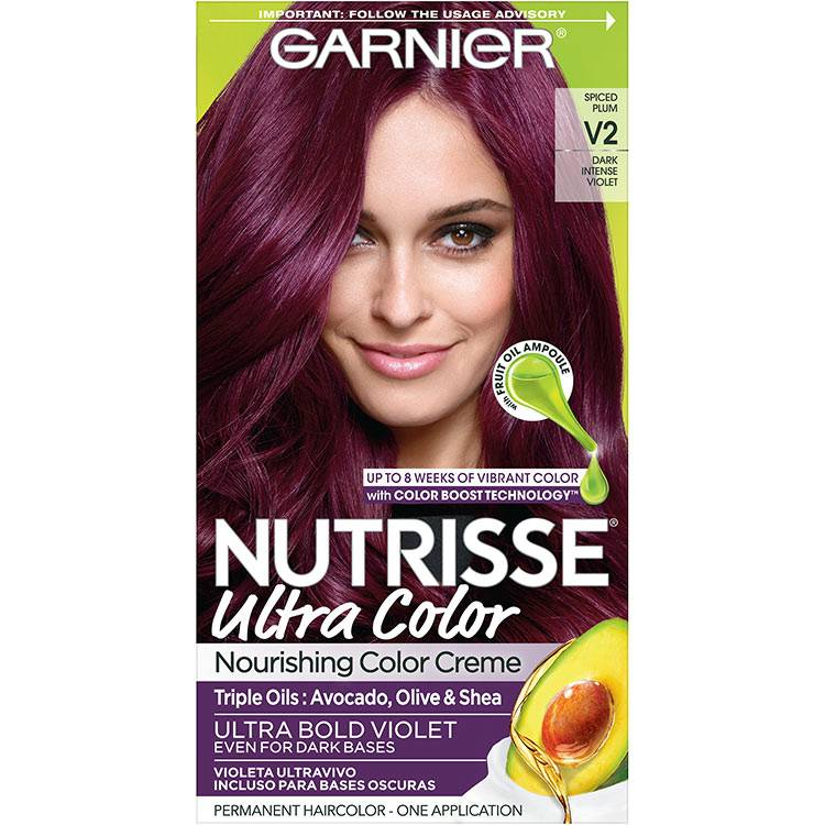 Garnier Nutrisse Ultra Color Nourishing Hair Color Creme V2 dark intense violet