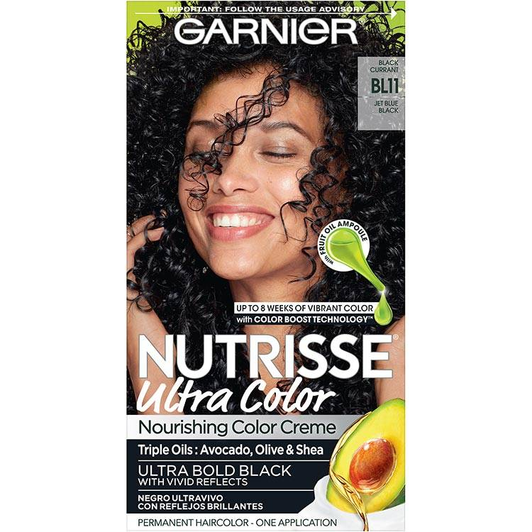 Garnier Nutrisse Ultra Color Nourishing Hair Color Creme bl11 Reflective Jet Blue Black