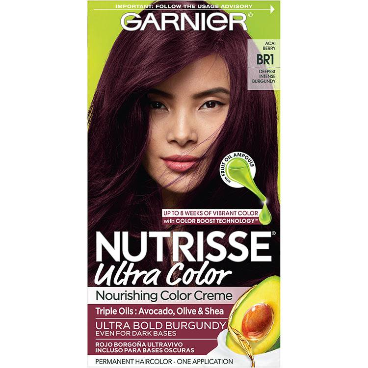 Garnier Nutrisse Ultra Color Nourishing Hair Color Creme br1 Deepest Intense Burgundy