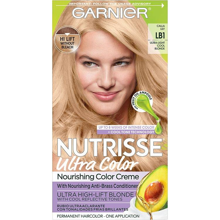 Garnier Nutrisse Ultra Color Nourishing Hair Color Creme lb1 Ultra Light Cool Blonde