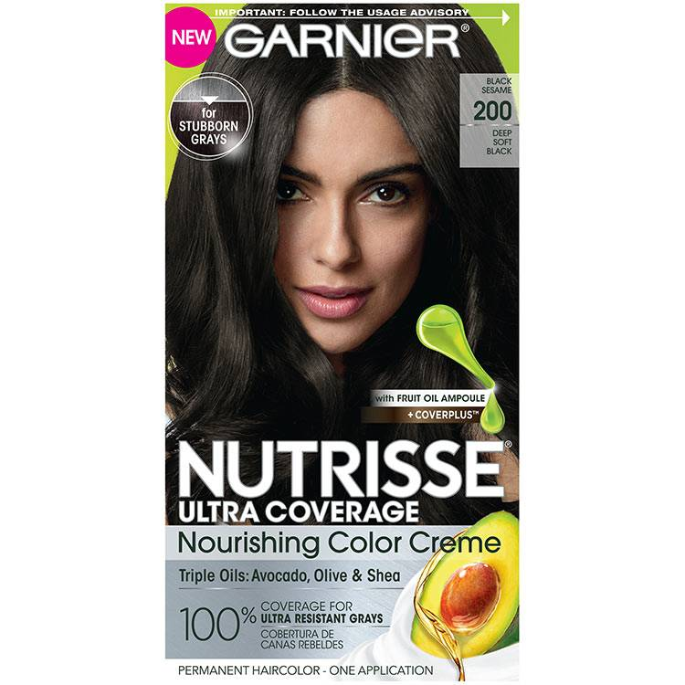 Front view of Nutrisse Ultra Coverage 200 - Black Sesame.