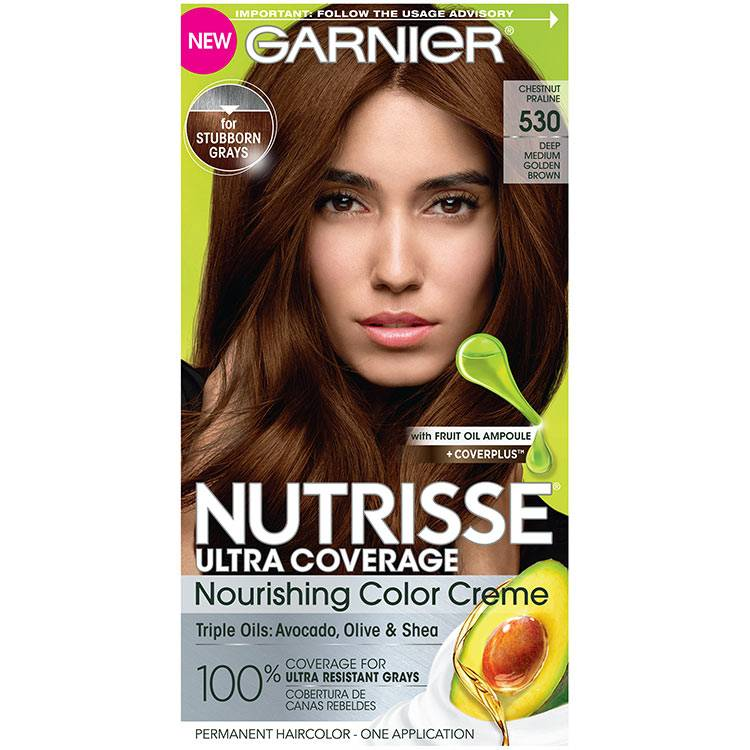 Front view of Nutrisse Ultra Coverage 530 - Chestnut Praline.