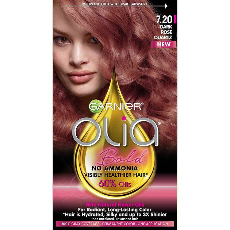 Hair Color Olia Bold Dark Rose Quartz