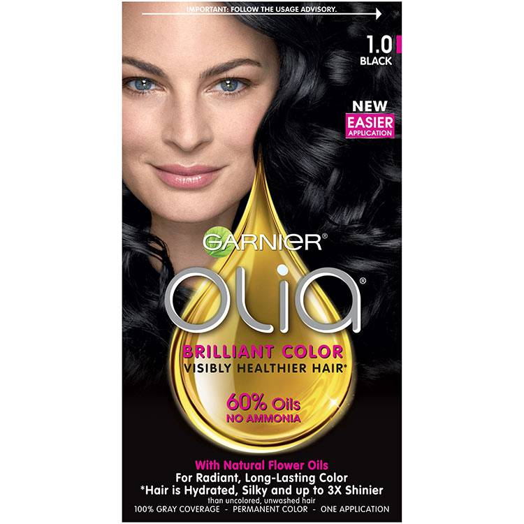 Olia Brilliant Color Hair Color 1.0 Black