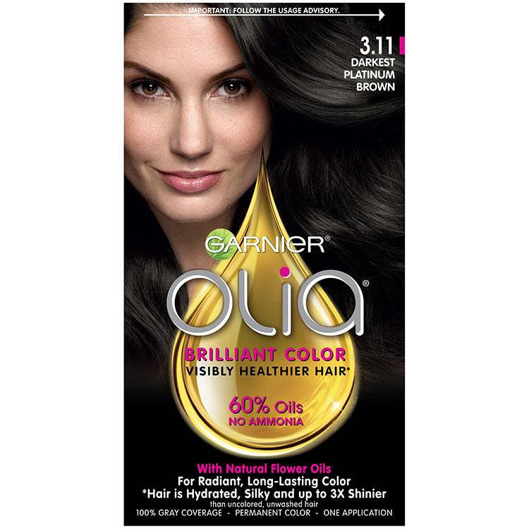 Olia Brilliant Color Hair Color 3.11 Darkest Platinum Brown