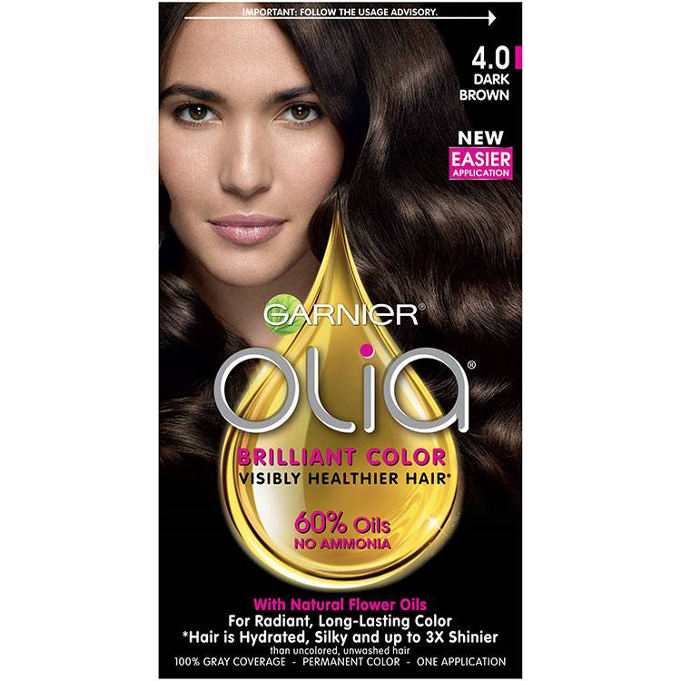 Olia Brilliant Color Hair Color 4.0 Dark Brown