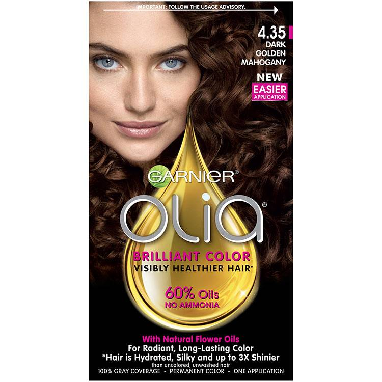 Olia Brilliant Color Hair Color 4.35 Golden Dark Mahogany