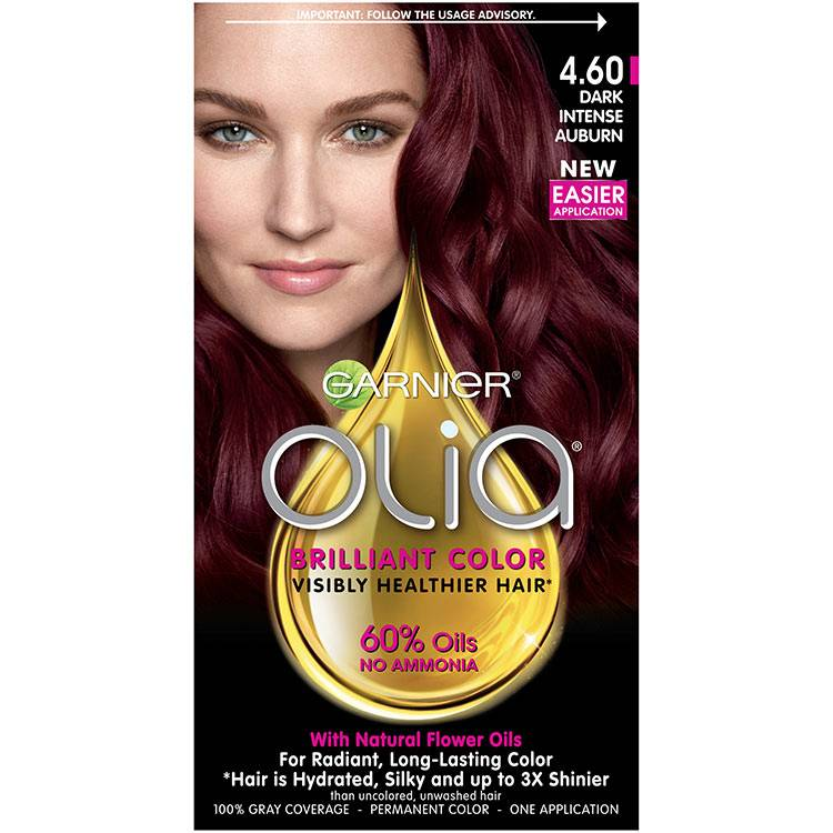 Olia Brilliant Color Hair Color 4.60 Dark Intense Auburn