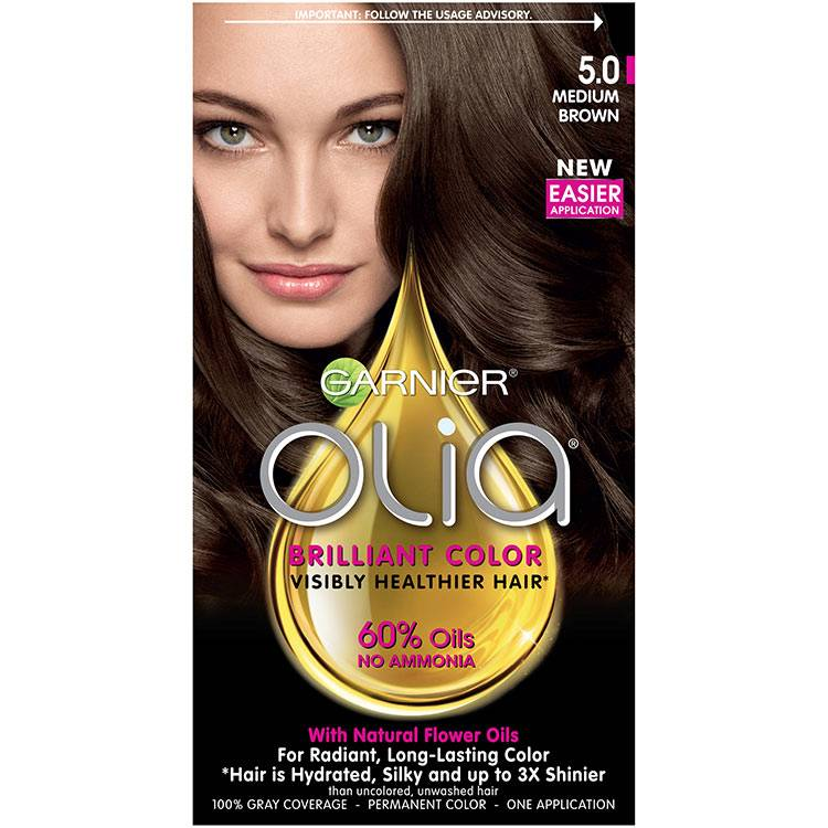 Olia Brilliant Color Hair Color 5.0 Medium Brown