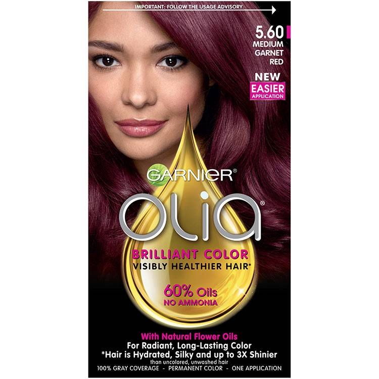 Olia Brilliant Color Hair Color 5.60 Medium Garnet Red