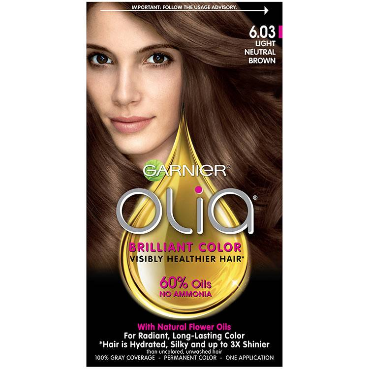 Olia Brilliant Color Hair Color 6.03 Light Neutral Brown