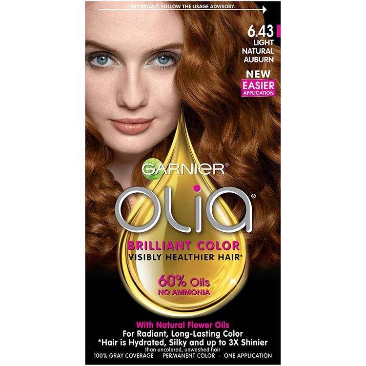 Olia Brilliant Color Hair Color 6.43 Light Natural Auburn