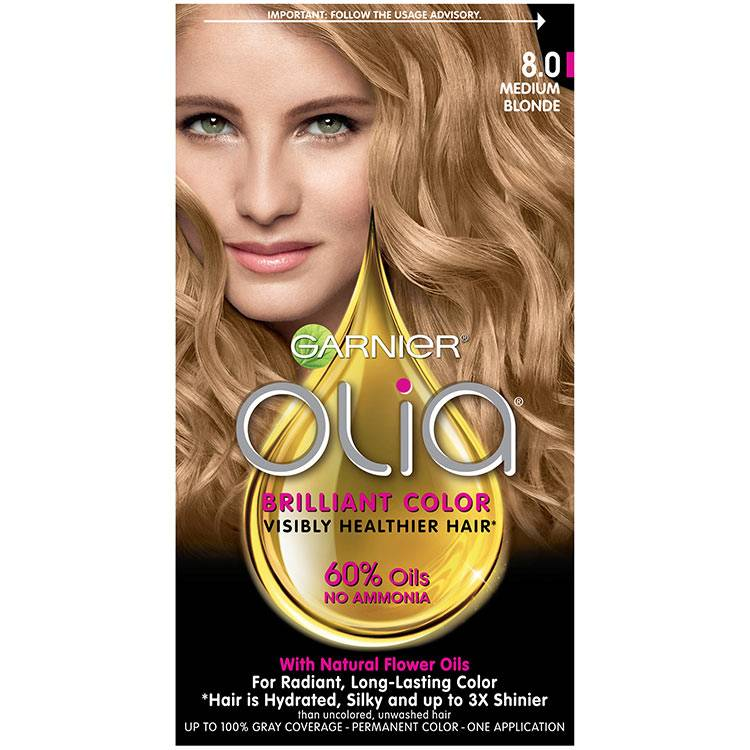 Olia Brilliant Color Hair Color 8.0 Medium Blonde