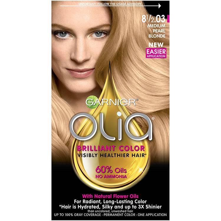 Olia Ammonia Free Permanent Hair Color Med Pearl Blonde Garnier
