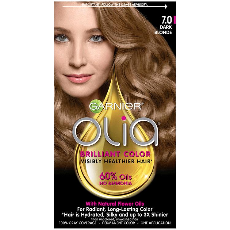 Olia Ammonia Free Permanent Hair Color Dark Blonde Garnier
