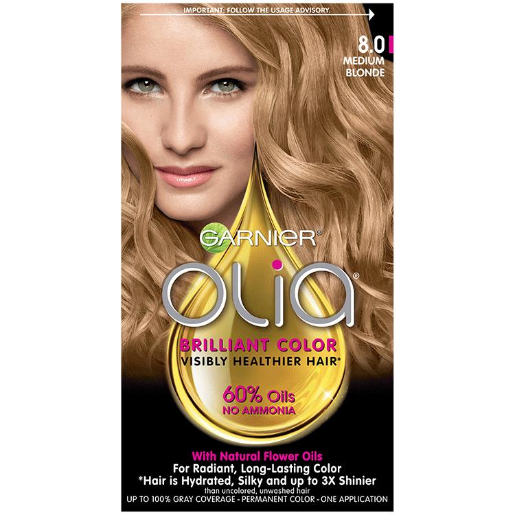 Olia Ammonia Free Permanent Hair Color Medium Blonde Garnier