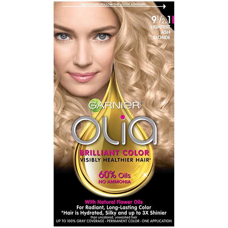 Olia Ammonia Free Lightest Cool Blonde Hair Color Garnier