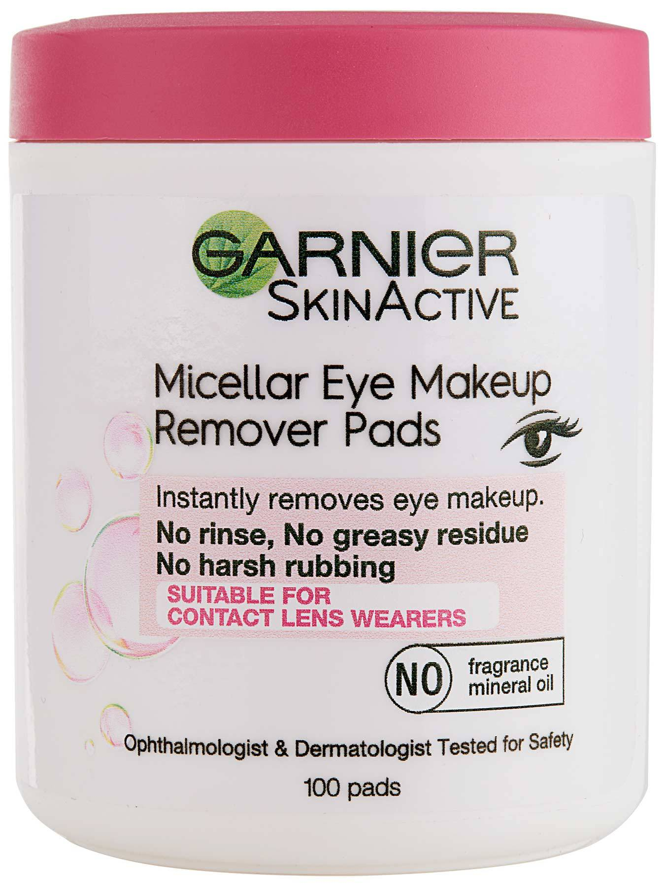 Front view of Micellar Eye Makeup Remover Pads.