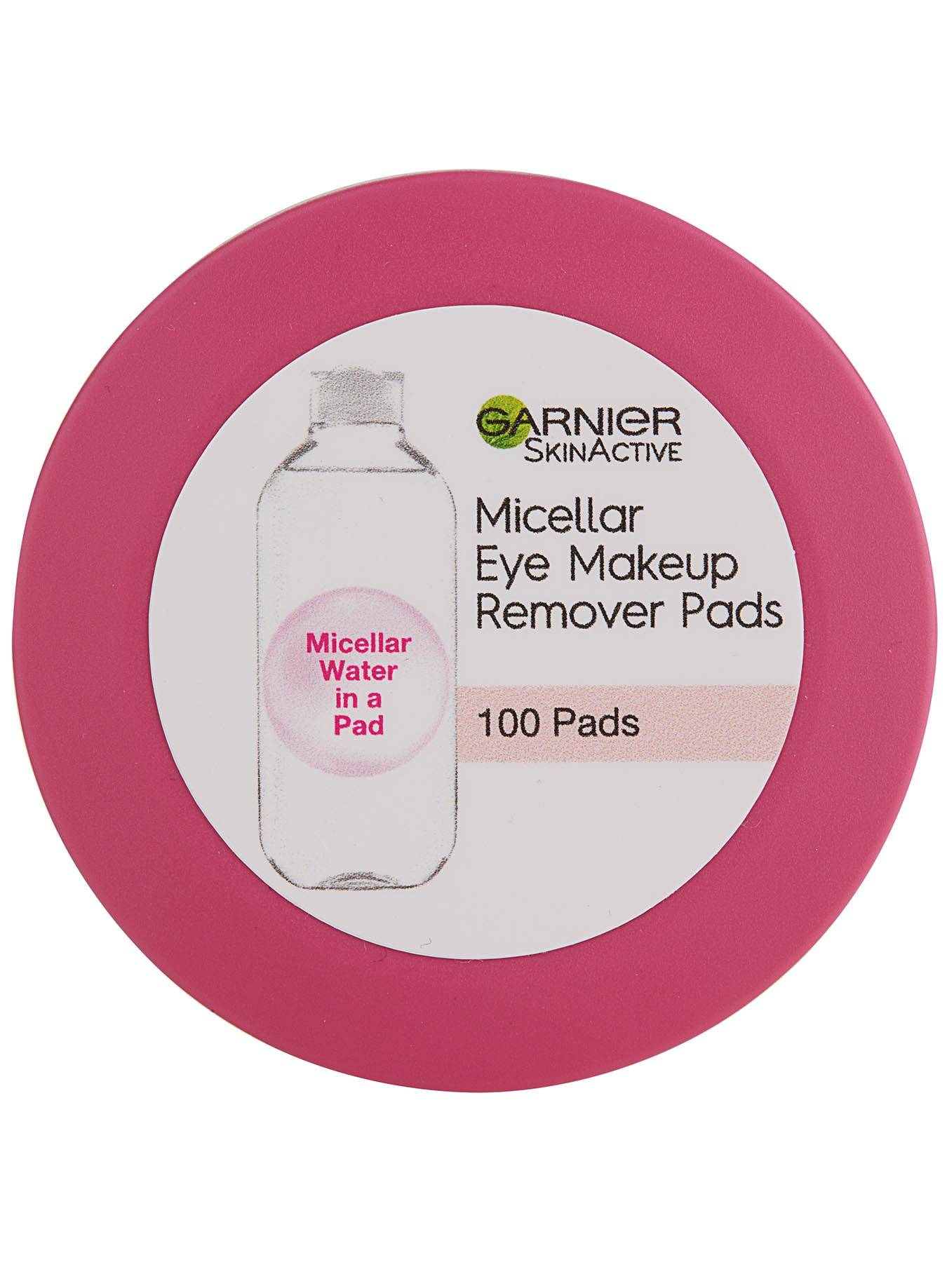 Top view of Micellar Eye Makeup Remover Pads.