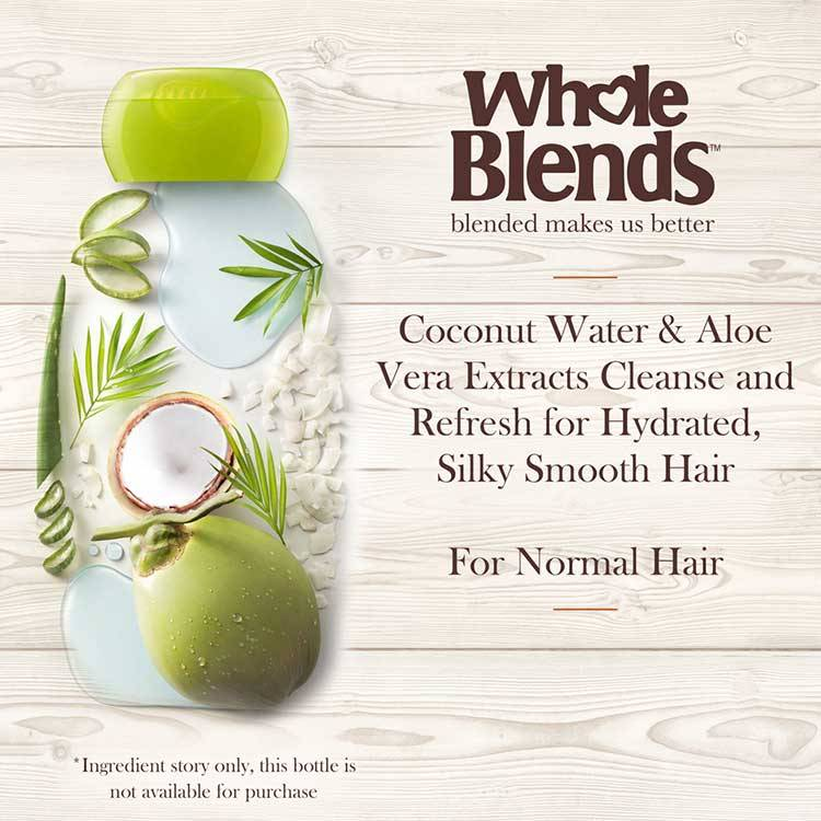 Coconut Water & Aloe Vera Extracts Cleanse and Refresh for Hydrated Silky Smooth Hair