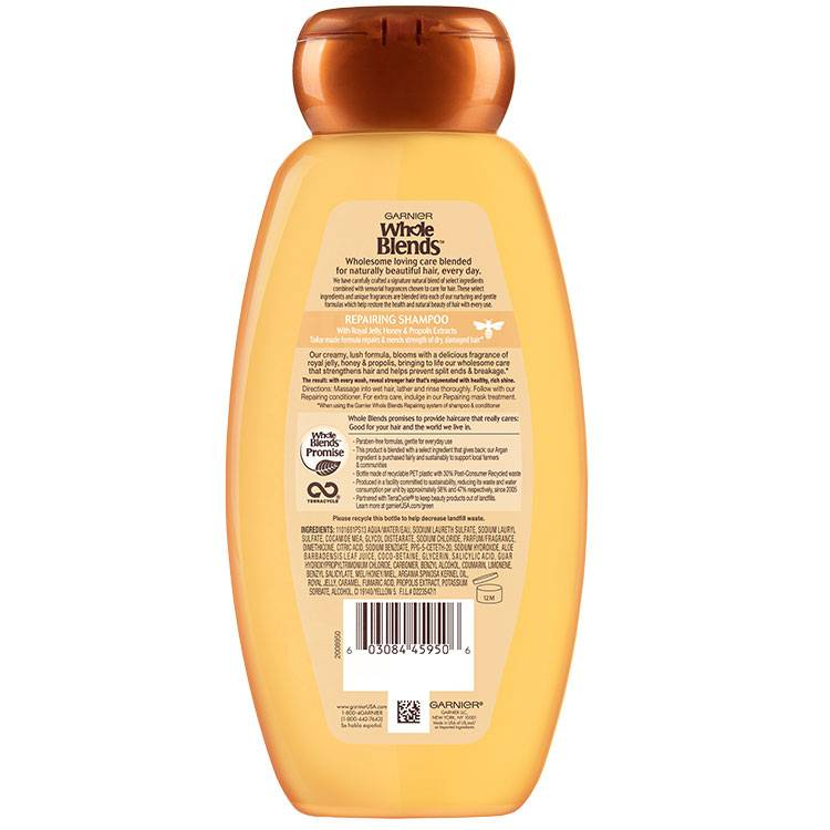 Whole Blends Honey Treasure Shampoo 22 floz back