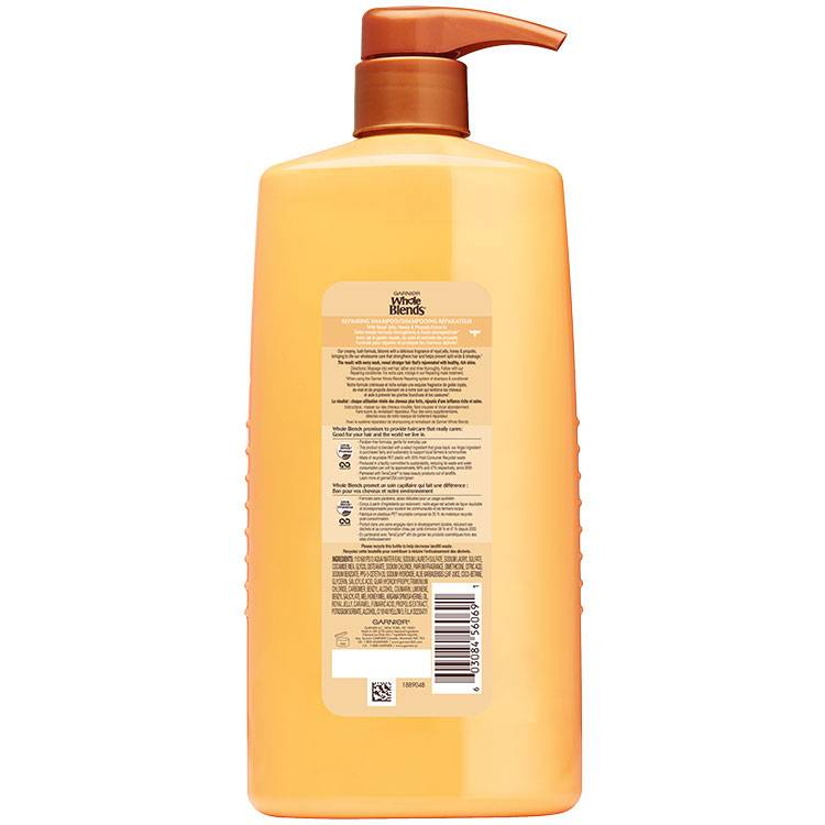 Whole Blends Honey Treasure Shampoo 28 floz back