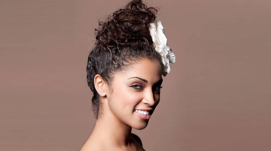 sky-high top knot